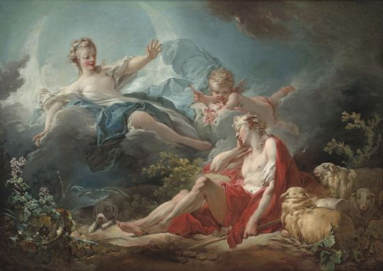 Fragonard, Jean-Honore. Diana and Endymion. Fine Art Print/Poster. Sizes: A4/A3/A2/A1 (00125)